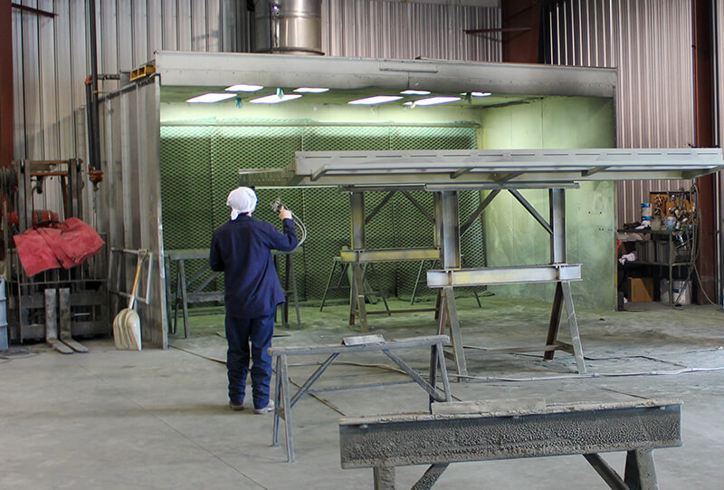 Tomrook Steel Manufacturing Paint Booth