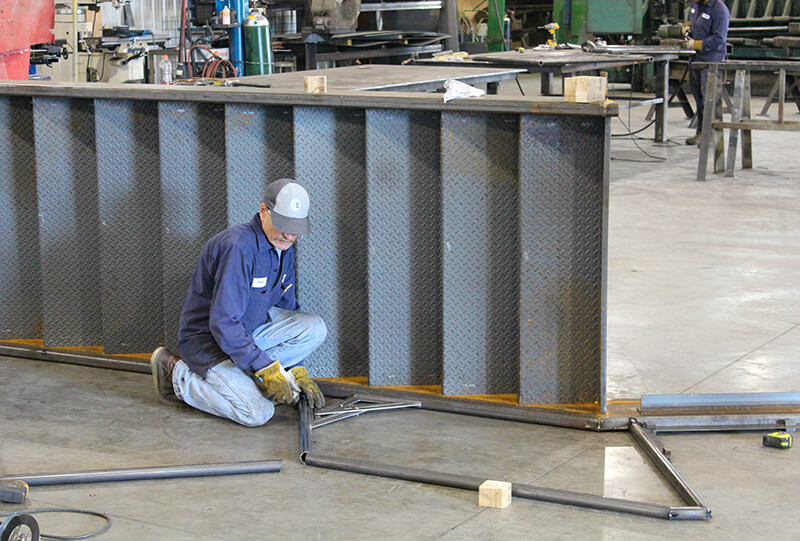 Tomrook Steel fabrication of louisville ariport steps