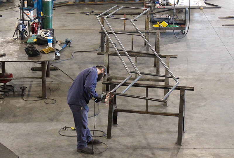Tomrook Steel fabrication of louisville ariport handrail